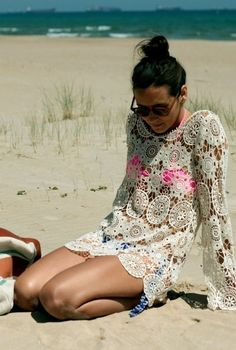 crochet lace tunic summer coverup