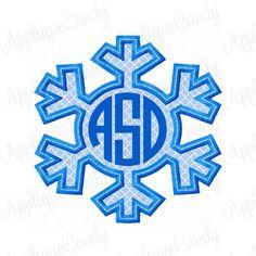 Winter Snowflake 2 Applique Embroidery Design 3x3 by AppliqueCandy