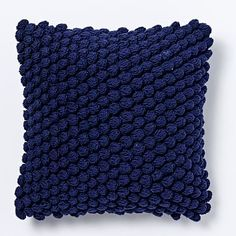 44 love the texture it bringsBubble Knit Pillow Cover - Nightshade #westelm 23 dollars today