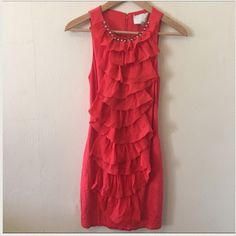Philip Lim Red Silky Ruffle Dress Pictures don't do this beauty justice! A real show stopper. You'll be the center of attention in this dress. Only worn once in great condition. No trades no PayPal. I'm open to offers via the offer button 3.1 Phillip Lim Dresses Mini