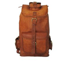 The Wanderer–Stylish around town, on the trail, or on a European adventure, this hand-crafted backpack, made of durable, high-quality goat leather, keeps your gear close at hand, secure and safe from the elements. The large main compartment is perfect for holding your clothes, books and other belongings. The four small outer pockets are ideal for quick, easy access to smaller items. Two adjustable straps sling comfortably over your shoulders, making it an easy, comfortable backpack to carry.