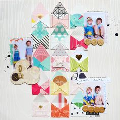 Layout tutorial for @glittershim by @paigeevans #scrapbooking #americancrafts