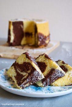 Barbie Magica Cuoca - blog di cucina: Torta fluffosa marmorizzata al cacao Italian Desserts, Italian Recipes, Torta Chiffon, Cake Calories, American Cake, Kinds Of Desserts, Angel Cake, Cake & Co, Sweet Cakes