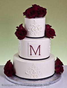 M for my future new last name ; Wedding Cake Inspiration, Wedding Ideas, Cake Gallery, Beautiful Wedding Cakes, Monogram Wedding, Cool Designs, Cupcakes, Desserts, Food