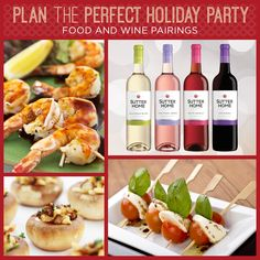 Need some wine & food pairings for the perfect holiday party menu? We got you covered!