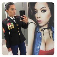 Here we share a new collection of ARMY WOMEN in and out of uniform. These are the 77 beautiful ARMY WOMEN looking gorgeous without uniform. Female Marines, Female Soldier, Women Marines, Female Warriors, Ashley Benson, Military Girl, Military Women, Girls Uniforms, Poses