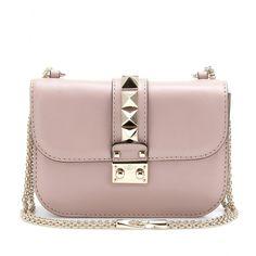 valentino - leather mini shoulder bag