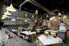 100% #DISEÑO. Una cafetería que reúne las #tendencias más actuales en…