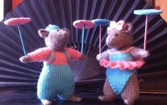 Felipe & Rosina  plate spinners Beth's mouse circus 2015 made by aunty Roz