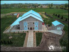 Blue Haven Barn & Gardens www.gregandlarae.com Elegant Wedding, Fall Wedding, Sioux, Sd, Wedding Venues, Gardens, Cabin, House Styles, Blue