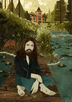 George Harrison The Beatles 'Friar Park' 1970s