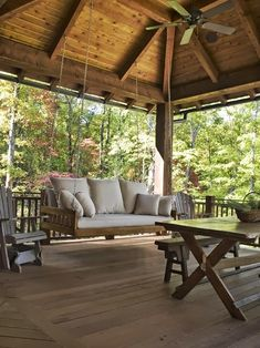 Nice Porch with Swing | Content in a Cottage