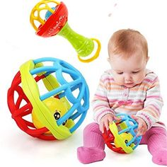 Baby Rattles & Mobiles 3pcs Rattle Toy Educational Creative Plastic Baby Toy Ball Toy For Toddler To Suit The PeopleS Convenience Toys & Hobbies