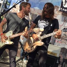 Chris Shiflett and Dave Grohl 5/9/15 with Chevy Metal