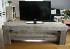 Industrieel Tv-meubel van sloophout, steigerhout en metaal, te koop via marktplaats.