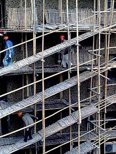 Construction Worker on Scaffold, Shanghai