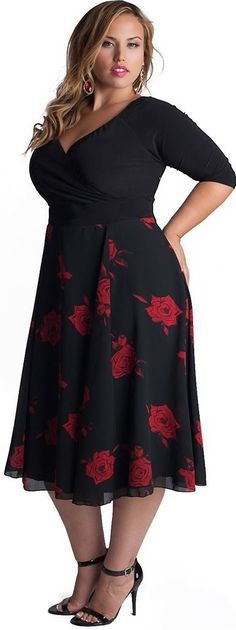 Great dress with a delicate chiffon skirt. #plussize Women Big Size Clothes - http://amzn.to/2ix7dK5