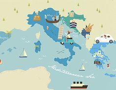 """다음 @Behance 프로젝트 확인: """"Map Illustration for sisterMAG Germany"""" https://www.behance.net/gallery/27867951/Map-Illustration-for-sisterMAG-Germany"""