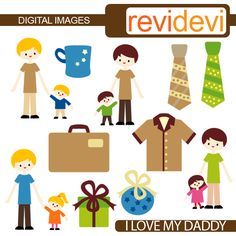 I Love My Daddy - Cliparts - Mygrafico.com
