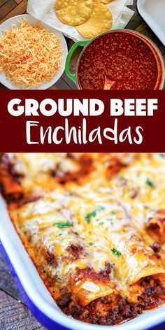 Ground Beef Enchiladas Recipe These Beef Enchiladas are so tasty and easy, you'll never go back to canned enchilada sauce. Corn tortillas filled with flavorful ground beef, melty cheese and a killer homemade red enchilada sauce. Easy Beef Enchiladas, Ground Beef Enchiladas, Red Enchiladas, Homemade Enchiladas, Cheese Enchiladas, Beef Enchiladas Corn Tortillas, Recipes With Corn Tortillas, Ground Beef Burritos, Corn Tortilla Recipes