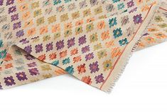 Kelim Afghan 362 x 254 cm Floral Tie, Indigo, Quilts, Blanket, Indigo Dye, Quilt Sets, Blankets, Log Cabin Quilts, Cover