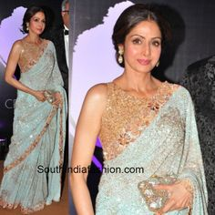 6 Of our favourite Manish Malhotra sarees Sridevi was seen in – South India Fashion Indian Party Wear, Indian Wedding Outfits, Indian Outfits, Indian Wear, Pakistani Dresses, Indian Sarees, Indian Dresses, Designer Sarees Wedding, Saree Wedding