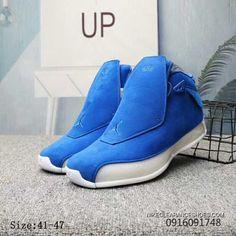 f9c9c19cefd9fa Air Jordan 18 Retro AA2494-401 Racer Blue Racer Blue-Sail Mens Basketball  Shoes New Style