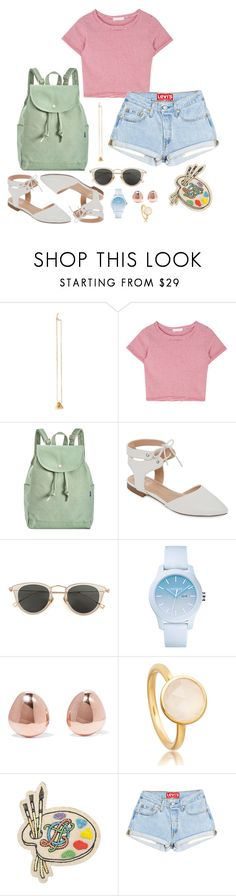 """I swear that I'll always paint you"" by comanchae ❤ liked on Polyvore featuring BAGGU, GC Shoes, Issey Miyake, Lacoste, Monica Vinader, Olympia Le-Tan, Summer, Spring, summer2017 and Spring2017"
