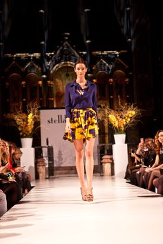 @StellaDot UK Spring 2012 Fashion Show, model wearing the Bahari Necklace  http://www.stelladot.com/melissadapolito