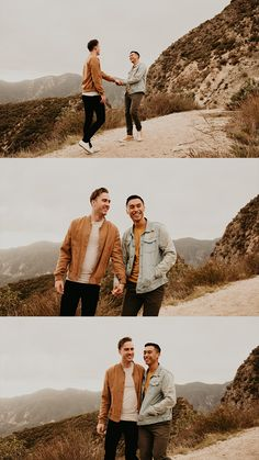 LGBTQ couples session   LGBT engagement session   same sex engagement photos   gay couple engagement photos   los angeles mountain engagement   where to take engagement photos in southern california   los angeles elopement photographer   california elopement photographer   inclusive photographer #loveislove Engagement Photo Outfits, Engagement Photo Inspiration, Engagement Couple, Engagement Session, Engagement Photos, Couple Photoshoot Poses, Couple Posing, Couple Shoot, Lgbt Couples