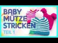 Bärchen-Mütze, Babymütze in zwei Größen (auch schriftl.) - YouTube Knitted Hats, Crochet Hats, Baby Pullover, Afghan Blanket, More Fun, Presents, Wool, Knitting, Diy