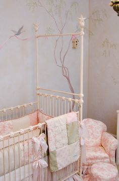 Love the painting...shabby Chic nursery