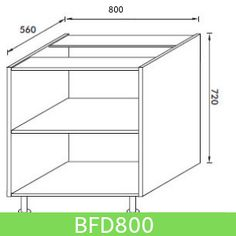 Base Unit 800 mm (Full Height Door)