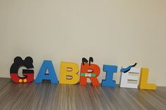 Mickey Mouse Clubhouse Letters Mickey by SimplylettersDesigns