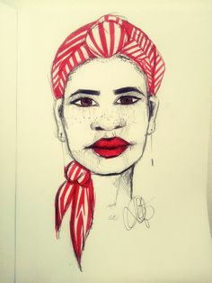 Afro art/draw pen and marker/by Sandra Pereira