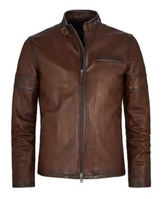 Daytona - a true classic mens leather jacket. Great style but staying true to vintage, designed to last through any fashion era. The Daytona is an alternative style to our best selling Cafe Racer jacket.It features a double snap collar strap, single c Men's Leather Jacket, Biker Leather, Leather Men, Jacket Men, Brown Leather, Motorcycle Leather, Cargo Jacket, Bomber Jacket, Mens Summer Jackets