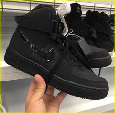 low priced ec268 bcecc Nike Air Force Black, Air Force 1 High, Black Shoes Sneakers, Men s Sneakers