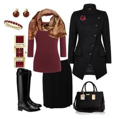 """""""Headed to Work in Autumn"""" by gillgal on Polyvore featuring DKNY, Tory Burch, Gabrielle Sanchez, Etro, Chanel, Caravelle by Bulova, Allurez, River Island, WorkWear and fallstyle"""