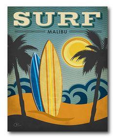 'Surf Malibu' Wrapped Canvas