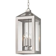 """BULB TYPE: Candelabra  MATERIAL: Glass + Steel  FINISH: Polished Nickel  CANOPY SIZE: 5.25"""" (in)  CHAIN LENGTH: 72""""/120"""""""