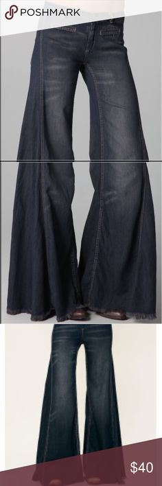 Free People Extreme Flares Extreme flares only worn once! Washed once.  Great condition. Free People Jeans Flare & Wide Leg
