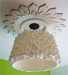 A modern ceiling rose and a very ornamental light Ceiling Rose, Ceiling Lights, Cordless Lamps, Ceiling Treatments, Sparkling Lights, Modern Ceiling, Ceiling Medallions, 3d Printing, Interior Decorating