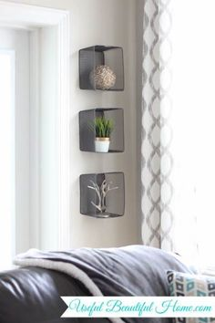 Recycled Wall Decor Using Target Dollar Spot Bins