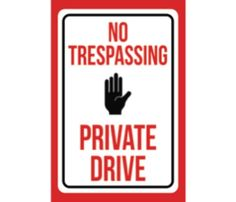 NO OUTLET Metal Sign 4 Private Property No Trespassing Land Posted No Hunting