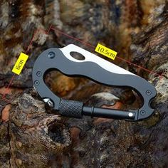 High Quality Survival Camping Hiking Travel Kit Knife 5 in 1 Aluminum Climbing Carabiner Hook Gear Multi Tool Buckle Rock Lock Survival Equipment, Survival Tools, Wilderness Survival, Survival Knife, Outdoor Tools, Outdoor Stuff, Dance Music, Climbing Carabiner, Edc Tools