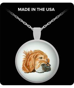 Retriever Dog Pin Golden Retriever Pin Dog Jewelry Dog Necklace