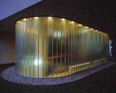 Mondrian House in Warsaw, Poland with Pilkington Profilit™ channel glass. U Glass, Pilkington Glass, Channel Glass, Glass Structure, Glass Facades, Facade Design, Mondrian, Building Materials, Cladding
