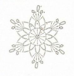 Best 12 What are the crochet snowflake pattern? crochet snowflake pattern schematic pattern to crochet a snowflake. Crochet Snowflake Pattern, Crochet Motifs, Crochet Snowflakes, Crochet Diagram, Doily Patterns, Thread Crochet, Crochet Stitches, Crochet Patterns, Knitting Patterns