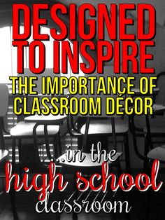 A blog post about the importance of creating an inspiring, engaging and stimulating space for students.
