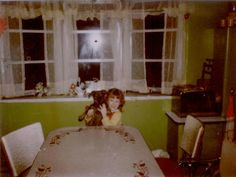 Ghost photo window; ***appears to be the photographers image mirrored by the flash in the window....